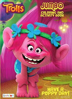 Dreamworks Trolls Have A Poppy Day Jumbo Coloring and Activity Book >>> Read more  at the image link. Note:It is Affiliate Link to Amazon.