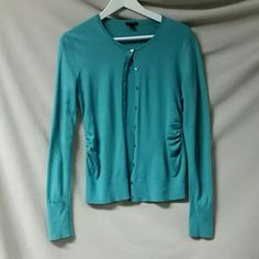 Ann Taylor teal cardigan Gorgeous color,  gathering on the sides at the waist Ann Taylor Sweaters Cardigans