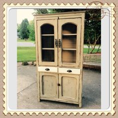 Awesome Pie Safe painted in Maison Blanche fran. gray & antique white w/ dark wax.  By Karla of Hart & Soul Designs, Huntsville, AL