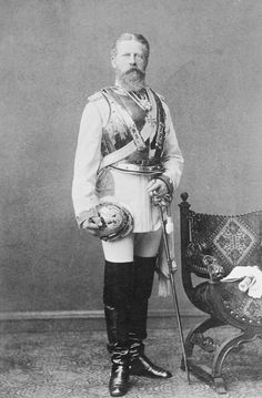 Photograph in His General of Cuirassers Jubilee Uniform,