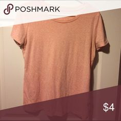 Large Mossimo Peach Colored Tee Good used condition! No rips stains or holes! Mossimo Supply Co Tops Tees - Short Sleeve