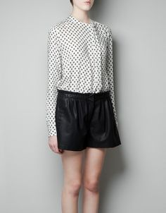 Think work-worthy PJs...or PJ-worthy work clothes. -- PRINTED BLOUSE - Shirts - Woman - New collection - ZARA