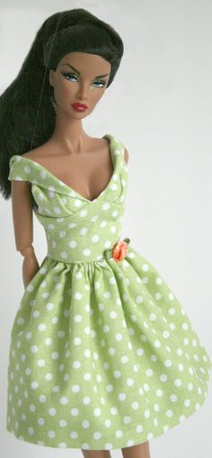 Party dress for Barbie by ChicBarbieDesigns on Etsy