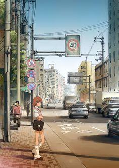 Misaka in the city