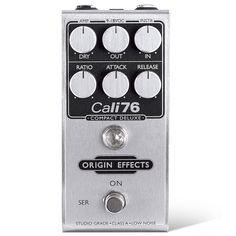 ORIGIN EFFECTS Cali76-CD / The Cali76 Compact Deluxe is an 1176-style studio-grade FET compressor Featuring high-current, low-noise, discrete Class-A circuitry and a dedicated parallel compression control… all contained in one compact, stompbox-sized package!