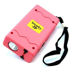 DEFENDER FORCE 10 MILLION VOLT STUN GUN RECHARGEABLE LED LIGHT SELF DEFENSE PINK