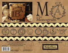 M is for Monogram pattern booklet