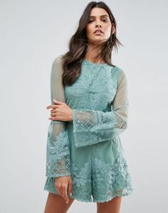 ASOS Placement Lace Occasion Romper