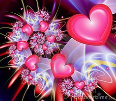 Illustration about Heart Spiral - fractal image. Illustration of infinity, pretty, hearts - 153475