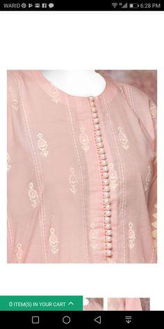 Best 12 Cheap High Fashion Women S Clothing Code: 2968776264 Salwar Neck Designs, Kurta Neck Design, Neck Designs For Suits, Sleeves Designs For Dresses, Neckline Designs, Kurta Designs Women, Dress Neck Designs, Blouse Designs, Gala Design