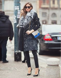 Olivia Palermo's winter fashion    #oliviapalermo #fashion