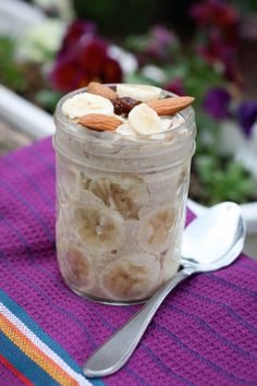Quinoa Overnight Oats -- This is super easy to make the night before and it's so nice to wake up and have breakfast already made.