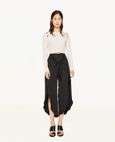 39.90 FLOWING TROUSERS WITH KNOT from Zara