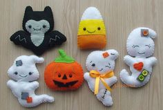 Halloween home decor, Halloween Magnets, Scary felt ornament, Fridge magnets, set of 6 Halloween ornament, Halloween decor, Candy Corn, Bat by DevelopingToys on Etsy https://www.etsy.com/listing/248814974/halloween-home-decor-halloween-magnets