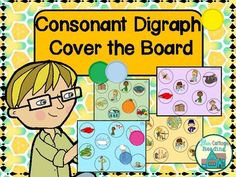 Get out your collection of big buttons or cute mini erasers! In this easy game, students read words containing sh, ch or th and cover the matching pictures on their boards. This set contains both full-color boards for each digraph (ch, th, sh) and sets that have less color to help save on your ink budget.