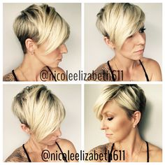 Short hair, blonde, style, undercut, pixie