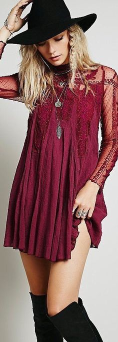 30 + Adorable Boho Gypsy Style Dress as featured on PASABOHO �:: boho fashion :: gypsy style :: hippie chic :: boho chic :: outfit ideas :: boho clothing :: free spirit :: fashion trend :: embroidered :: flowers :: floral :: lace :: summer :: fabulous ::