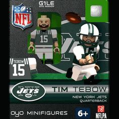 Tim Tebow OYO! Generation One Limited Edition OYO® minifigure. Part of the first football OYOs released! This will surely be a collector item. Don't miss out! Figure comes with a football, a helmet with a removable face mask, water bottle, and stand with unique OYO® DNA number. $13.