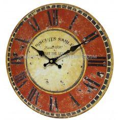 Horloge Murale Style Usine Ø34cm