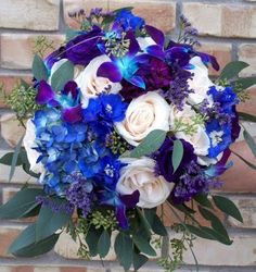Best Wedding Flowers: Blue Fall Wedding Flowers