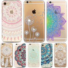 Phone Cases for Apple iPhone 5 5S SE 6 6S Plus 6Plus HENNA DREAM CATCHER Vintage Datura Mandala Flowers TPU Silicon Cover Capa