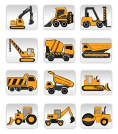 Construction Equipment Markets in China Construction Party, Construction Design, Construction Business, Digger Party, Construction Birthday Parties, Heavy Equipment, Baby Quilts, Online Art, Boy Birthday
