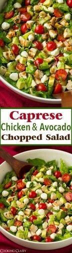 Caprese chicken avocado chopped salad