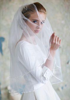 Classic Romance Bright White Veil