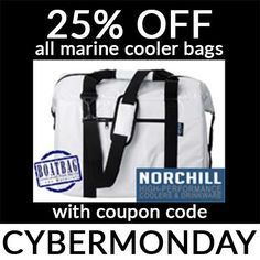 Last chance to get 25% off BoatBag marine-grade cooler bags at norchillcoolers.com. Use coupon code CYBERMONDAY at checkout. BoatBags come in two sizes: Large and Medium. They're UV-resistant, puncture-resistant, and hold 24-48 cans with 5-10lbs of ice. Grab one now because you might not see this price again.  #CyberMonday #Fishing #Boating #Sale #Christmas #Deals