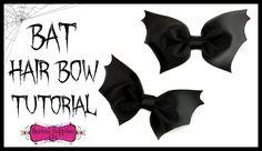 Bat Hair Bow Tutorial - Halloween Hair Bow - Hairbow Supplies, Etc.