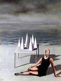 René Magritte - Les Surprises et l'Océan, 1927. Rene Magritte ( 1898 - 1967 ) More At FOSTERGINGER @ Pinterest