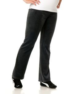 Under Belly Velour Yoga Maternity Yoga Pants