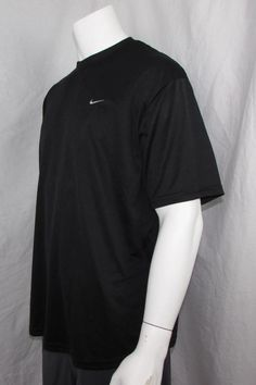 Nike Dri-Fit Short Sleeve T-Shirt Activewear Top Black Lightweight Breathable XL #Nike #ShirtsTops
