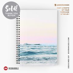 Just sold a Spiral Notebook with my artwork titled 'Dreamy Ocean'! Order yours or see all #redbubble products carrying this design here: http://www.redbubble.com/people/83oranges/works/24565151-dreamy-ocean-redbubble-decor?asc=u&p=spiral-notebook