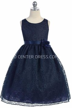 $72.83-Elegant Sleeveless Tea-Length Lace Deep Blue Junior Bridesmaid Dress. http://www.ucenterdress.com/tea-length-floral-tiered-lace-flower-girl-dress-pMK_401601.html.  Free Shipping & Free Custom Made Service! Shop junior bridesmaid dress short, long junior bridesmaid dress, flower girl dresses. We have great 2016 Junior Bridesmaid Dress on sale. Buy Junior Bridesmaid Dress online at UcenterDress.com today! #JuniorBridesmaidDress