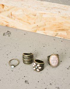 Rings - Jewellery - WOMAN - Accessories - Bershka Belgium