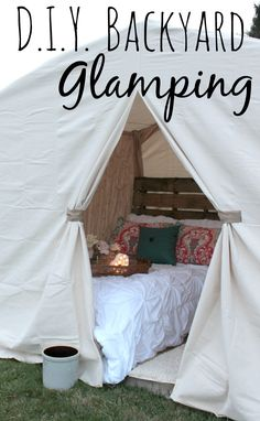 Easy DIY Backyard Glamping Think you need to go somewhere and spend a lot of money to glamp? That's not the case. I can show you how to create your own DIY Backyard Glamping experience.