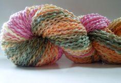 Floral Rhapsody Handspun Art Yarn Coily Ply by RainbowTwistShop, $51.75
