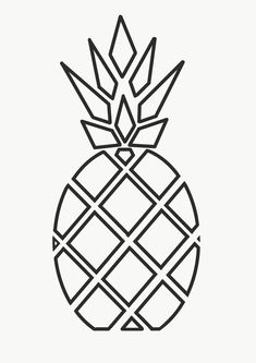 Pineapple drawing is easy Greatest Origami Papers Origami is one regarding the most delicate types of art there is definitely. Mini Drawings, Cute Easy Drawings, Cool Art Drawings, Pencil Art Drawings, Art Drawings Sketches, Geometric Drawing, Geometric Shapes, Pineapple Drawing, Pineapple Art