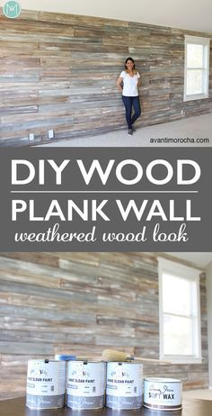 49 Ideas for rustic wood plank walls bathroom Diy Wand, Weathered Wood, Rustic Wood, Plank Wall Bathroom, Bathroom Beach, Wood Plank Walls, Pallet Walls, Wood Plank Ceiling, Plywood Walls