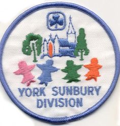 York Sunbury Division, New Brunswick, Girl Guides of Canada patch/crest. #Girl_Guides #GGC #patch_collecting