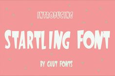 Startling Font is a cool, hand-lettered font with a casual flair. It has a certain playful vibe that will bring the sparkle in your projects. As always, this bouncy typeface comes with a personal and commercial use.