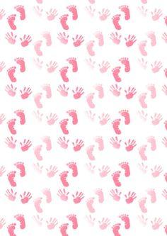 Baby footprints and handprints scrapbook paper Printable Scrapbook Paper, Baby Scrapbook, Printable Paper, Baby Clip Art, Baby Art, Baby Wallpaper, Baby Images, Baby Footprints, New Baby Cards