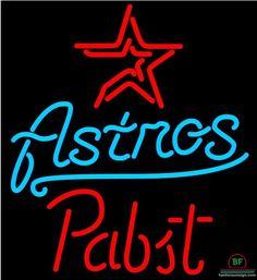 Pabst Houston Astros Neon Sign MLB Teams Neon Light