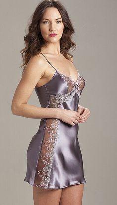 Sulis Silk Angela pure silk slip chemise made in England