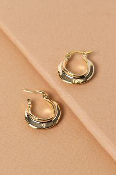 c0cbf4f6c Ora Hugger Hoop Earrings (14K) $14 Gold Money, Gold Hoop Earrings, Drop