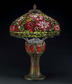 Stained Glass Lamp Shades, Louis Comfort Tiffany, Tiffany Glass, Glass Design, Light Fixtures, Art Nouveau, Studios, Table Lamp, Antiques