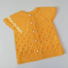 710 Likes, 13 Comments - Seda✏✂ ( on Easy Knitting Patterns, Knitting For Kids, Baby Patterns, Baby Knitting, Crochet Baby, Knit Crochet, Baby Cardigan, Baby Vest, Diy Crafts Crochet