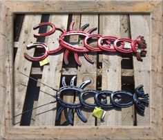 Marks Custom Horseshoe Art For Sale......I want to make some of these guys!!!