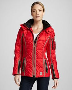 Ira Belted Coat by Bogner Sport at Neiman Marcus.